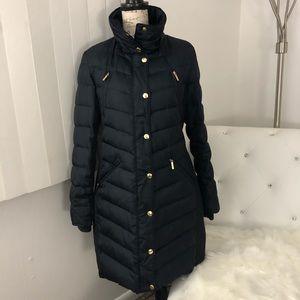 Michael Kors Navy Blue Down Puffer Coat M